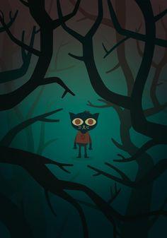 Night in the Woods Fan Art Print by Christian Villacañas, via Behance