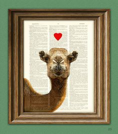 CAMEL in LOVE beautifully upcycled vintage by collageOrama on Etsy, $7.99