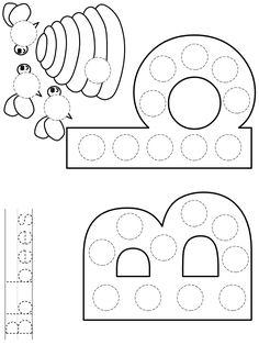 DLTK's Template Printing Grade R Worksheets, Preschool Worksheets, Preschool Activities, Tracing Worksheets, Numbers Preschool, Preschool Letters, Learning Letters, Letter B Activities, Activities For 5 Year Olds