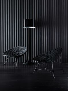 Steel and PVC garden #armchair SWEET 27 by Gervasoni | #design Paola Navone #black @gervasoni1882