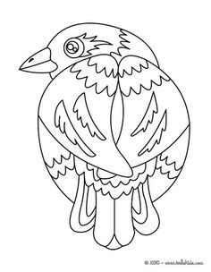 Go Green And Color Online This Colorful Bird Coloring Page. Nice Bird Coloring  Sheet.