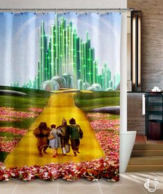 The Wizard Of Oz Over Rainbow Shower Curtain Cheap Curtains