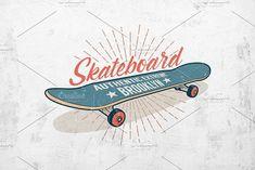 Skateboard Retro Print by Agor2012 shop on @creativemarket