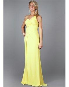 Elegant one shoulder chiffon prom dress~ bridesmaid dress?