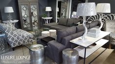 Leisure Lounge manufactures custom-made upholstered furniture! Visit our showrooms in Durban, Hillcrest and Umhlanga or see our stunning range right here. U Glass, Upholstered Furniture, Fine Furniture, Picasso, Grey And White, Boudoir, Metallic, Chairs, Corner