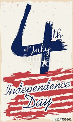 Retro Postcard with Reminder of U.S.A. Independence Day