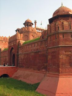 Agra Red Fort, a UNESCO World Heritage site located in Agra, India. It is about 2.5 km northwest of its more famous sister monument, the Taj Mahal.