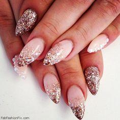 Fab glitter nail art for holidays. #nailart #glitter #sparkle #nails