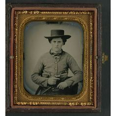 Private C.W. Ruff of 2nd Texas Infantry Regiment in uniform; hand-colored ambrotype; (sixth plate format); the Liljenquist Family Collection; the Library of Congress.