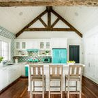 pool house - Beach Style - Kitchen - st louis - by Karr Bick Kitchen and Bath