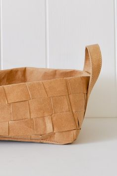 Uashmama Paper Basket - Woven Brown Large