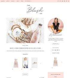 Blush Co. WordPress Theme | My Boutique Themes  WordPress Themes | Lifestyle Blog Theme | Fashion Blogger | GirlBoss Blog Design | Feminine WordPress Theme | Pink WordPress Theme for Beauty Bloggers #WordPressTheme #BlogDesignInspo #BlogDesign