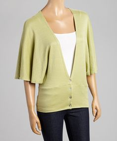 Take a look at this Willow Cape-Sleeve Deep V-Neck Cardigan on zulily today!