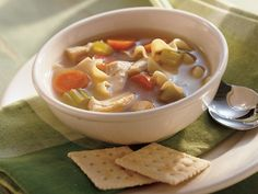 After Work Chicken Noodle Soup - Progresso® chicken broth provides a simple addition to this delicious noodle soup that's ready in just 30 minutes – a fast dinner packed with veggies!