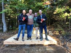 It was great to see the boys again and get caught up. A quick coffee then we have to get to work setting up the cedar hot tub.