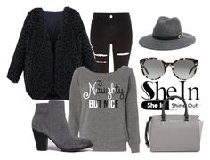 """""""Black V Neck Coat - SheIn"""" by snjezanamilovanovic233 ❤ liked on Polyvore featuring Mode, River Island, Breckelle's, Bebe, Tory Burch und MICHAEL Michael Kors"""