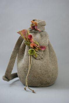Brown Tweed Sling Shoulder Bag a Sugarplum Original by J. Gauger