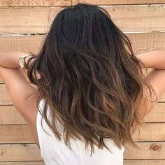 Brown Black Hair Color, Black Hair Ombre, Short Brown Hair, Ombre Hair Color, Brown Hair Colors, Black Brown Ombre Hair, Natural Ombre Hair, Natural Black Hair Color, Long Ombre Hair
