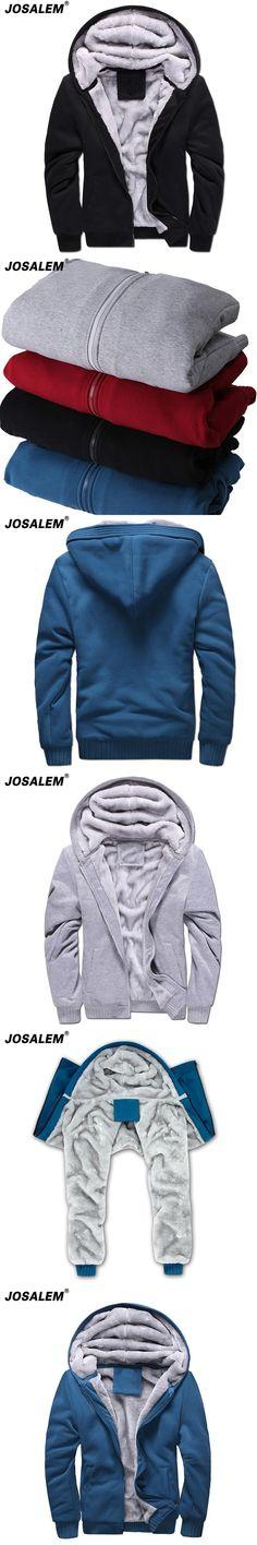 766669306a87b Plus Size Thick Velvet Zipper Hoodies Men 2017 Autumn Winter Warm Man Hooded  Sweatshirts Coat Casual