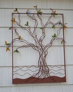 Tree, Metal With Fused Glass Leaves