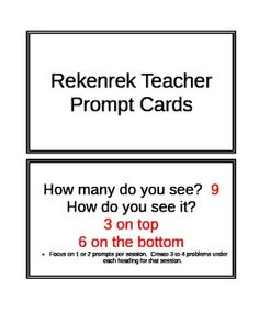 Here's a set of question prompt cards for use with the Rekenrek.