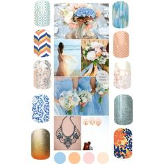 """Blue and Coral Wedding"" wrapitupshazza.jamberrynails.com.au"