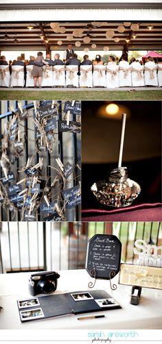 Autumn vintage winery wedding