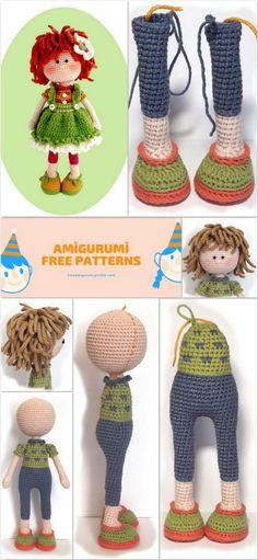 Would make a cute Raggedy Ann Doll Amigurumi Free Pattern, Crochet Amigurumi Free Patterns, Crochet Doll Pattern, Crochet Blanket Patterns, Amigurumi Doll, Crochet Crafts, Crochet Toys, Crochet Baby, Knitted Dolls