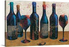 Wellington Studio Premium Thick-Wrap Canvas Wall Art Print entitled Wine Splash Light I, None