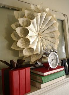 Wowza!  I normally would not feel wrecking a book for decorating purposes is a good thing but this...this is definitely a good thing.