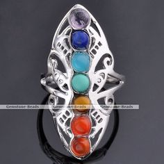 Silver Plated 7 Stone Bead Reiki Chakra Healing Point Butterfly Finger Ring Gift #Unbranded  http://www.ebay.com/itm/Silver-Plated-7-Stone-Bead-Reiki-Chakra-Healing-Point-Butterfly-Finger-Ring-Gift-/381118264527?pt=LH_DefaultDomain_0&hash=item58bc6b34cf