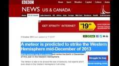 NASA announced that a meteor will strike the Western hemisphere in Decem...