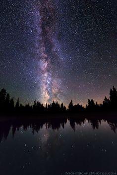 Galactic Alpine Wilderness by Royce Bair.