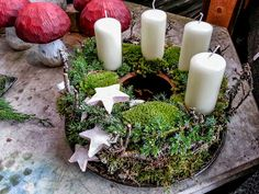 Ganz am Herzen der Natur #Adventskranz #Advent #Weihnachten #Kerzen #Natur #Floristik  EBK-Blumenmönche Blumenhaus – Google+