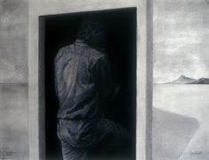 """Saatchi Online Artist: Oscar Vargas; Charcoal, 2012, Drawing """"RETURNING NOMAD"""""""