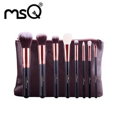 8pcs Rose Gold Makeup Brushes + Travel Bag by Focuseak.com Item Type: Makeup Brush Set Features: Soft and Eco-friendly, Synthetic, Full Coveragey. Brand Name: MSQ Material: Wood handle Quantity: 8pcs