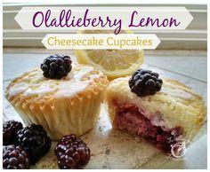 Olallieberry Lemon Cheesecake Cupcakes