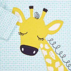 Buy John Lewis Baby Giraffe Applique Top, Teal/Cream, Newborn Online at johnlewis.com