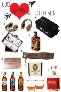 Gift Guide: Cool Valentine's Day Gifts for Men #Valentines #gifts http://www.great-gift-ideas.org/valentine-gifts/