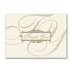Flourish Script Thank You Card This Business Thank You Or