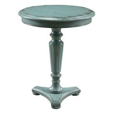 Blue End Table.
