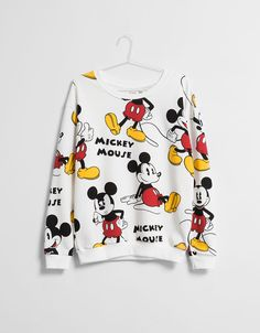 BSK Mickey sweatshirt with detailing - Sweatshirts - Bershka Hungary