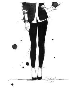 Black fashion illustration