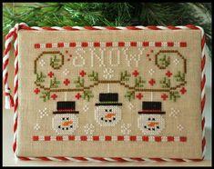 Snowmen Trio christmas cross stitch chart Country Cottage Needleworks