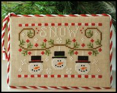 Snowmen Trio christmas cross stitch chart Country Cottage Needleworks