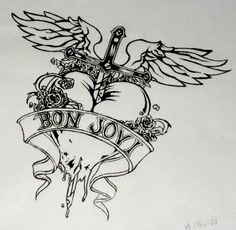 Bon jovi logo 1 193 1 224 pixels jon bon for Slippery when wet tattoo
