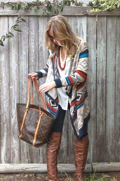 aztec long cardigan, How to layer in winter http://www.justtrendygirls.com/how-to-layer-in-winter/