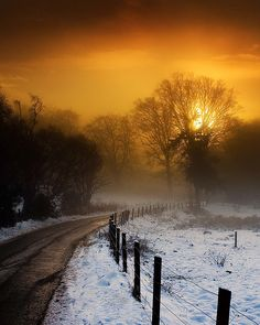 Winter Light in Scotland. Beautiful tourist destination for sightseeing when traveling and going on road trips. Great landscape to take beautiful photography and when planning on things to do in Scotland. Beautiful Sunset, Beautiful World, Beautiful Places, Beautiful Pictures, Foto Nature, All Nature, Amazing Nature, Pics Art, Winter Scenes