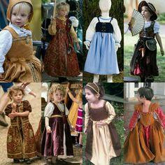 Renaissance fair co costume for little girl Renaissance Festival Costumes, Medieval Costume, Medieval Dress, Theatre Costumes, Cool Costumes, Historical Costume, Historical Clothing, Celtic Clothing, Princess Dress Patterns