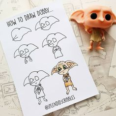 How to draw Dobby by ig Dobby Harry Potter, Arte Do Harry Potter, Harry Potter Theme, Harry Potter Drawings Easy, Harry Potter Sketch, Harry Potter Journal, Bullet Journal Art, Bullet Journal Ideas Pages, Desenhos Harry Potter